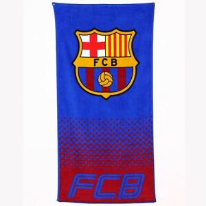 FC BARCELONA OFFICIAL LARGE BLUE BEACH BATH SWIM GYM TOWEL 100/% COTTON FCB
