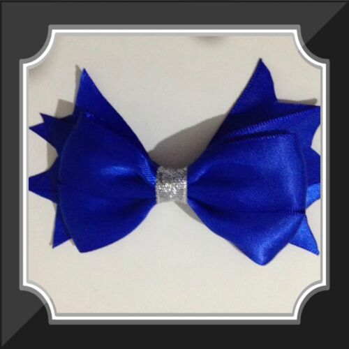 Large Satin Bow hair clips for toddlers Girls