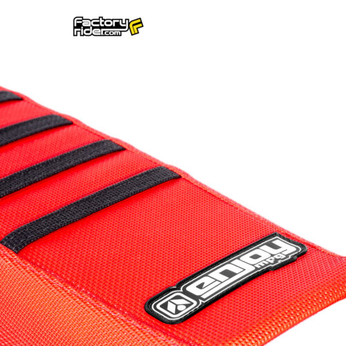 2013-2016 HONDA CRF 450 Seat Cover  Red with Black Ribs RIBBED BY Enjoy Mfg