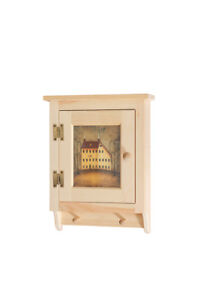 """AMISH UNFINISHED RUSTIC -  Small Cabinet 20 1/2""""   - SOLID PINE WOOD"""