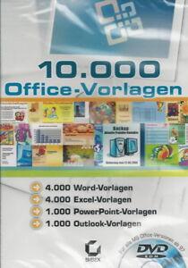 Detalles De Dvd Rom 10 000 Office Plantillas Plantillas Para Excel Word Power Point Outlook Ver Título Original