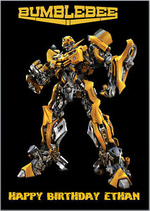 Transformers Bumblebee Birthday Card A5 Personalised any words eBay