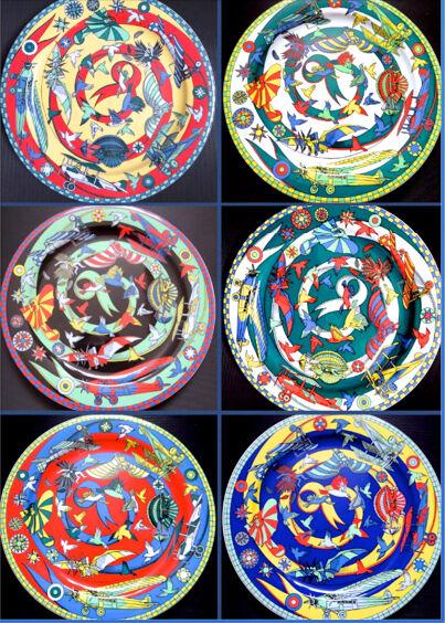 10x Fisch Perle Zwischenteil synth Türkis 20 x 11 mm Mix Mischung 2848