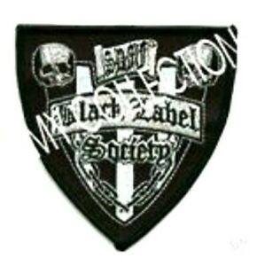 Noir Label Society Brodé Bouclier Patch Zakk Wylde
