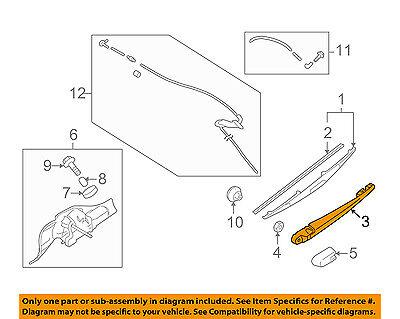 MR300823 Genuine Mitsubishi ARM ASSY,RR WINDOW WIPER