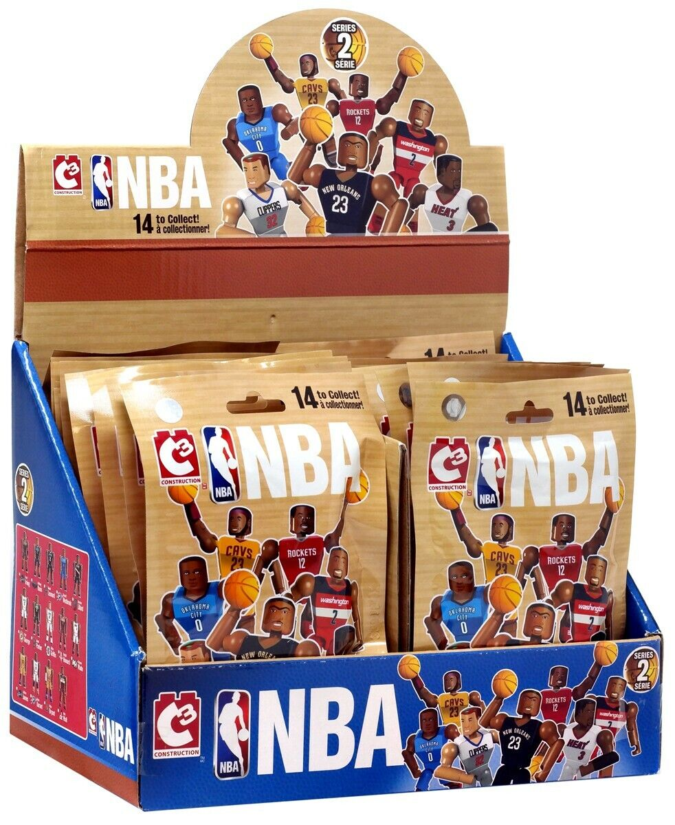 NBA C3 Construction Series 2 Buildable cifra Mystery Minis Blind scatola