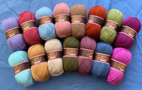 15 X 100g Stylecraft Especial D//K punto tejer hilado de lana//// Crochet Cottage ático 24 Pack