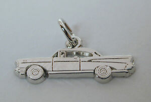 Sterling-Silver-039-57-Chevy-Charm-w-Lobster-Claw-Clasp-Free-U-S-Shipping