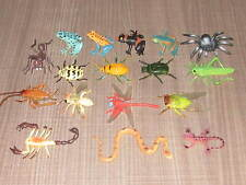 Lot of 13 Rubber/Plastic Fake Bugs, Insects, Frogs