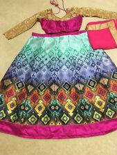 Woment Designer Bollywood Chaniya choli lehenga Stitched Blouse Pink Green gold