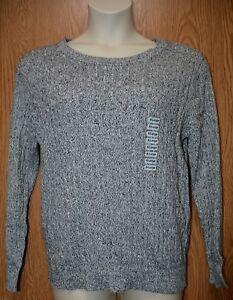 98cb7c18bdd6 Womens Black White Marble Karen Scott Corded Sweater Size XL NWT NEW ...
