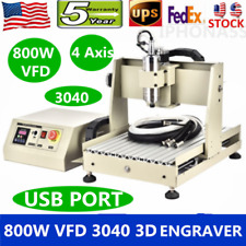 800w Usb 4axis Cnc 3040 Router Engraver Engraving Metal Carving Milling Machine