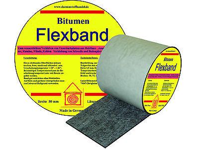 Kraftvoll Bitumen Flex Dichtband 75 Mm Rolle 10 M Dehnbarkeit Bis 30 % Fürs Dach