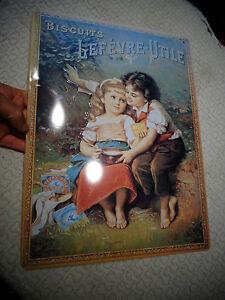 Reimpression-Tole-peinte-lithographiee-Publicite-Biscuits-LU-Lefevre-Utile