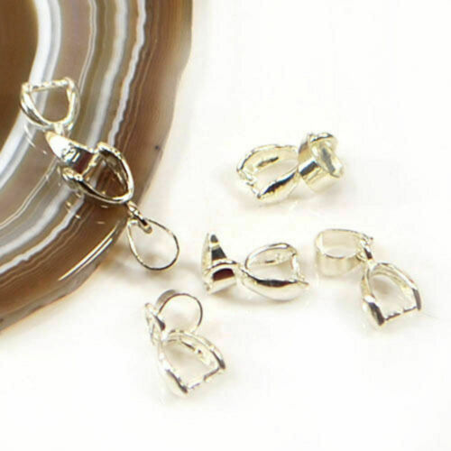 Pendant bail Necklace Pinch Bail pull Pendant Findings Silver Gold Brass Making