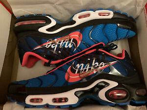 Tendero período Sustancialmente  Zapatos Deportivos Nike Air Max Plus Zapatillas para hombre Talla 11 Azul  Imperial Ember Glow Negro   eBay