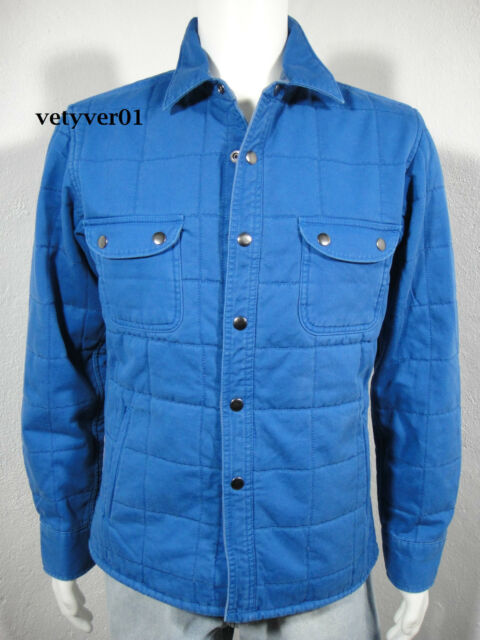 2fc1bec756 LUCKY BRAND California Fit Padded Quilted Cotton Shirt Jacket Royal Blue  size M