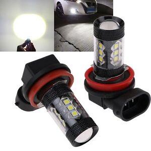 2x-6000K-White-H8-H11-High-80W-CREE-LED-Bulbs-Car-Fog-DRL-Driving-Light-800LM
