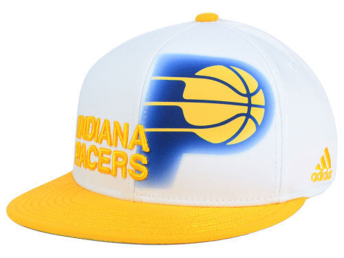online store 2ffe0 616dd Indiana Pacers adidas Mz303 Stretch Fit Flat Bill NBA Basketball Cap Hat L  xl for sale online   eBay