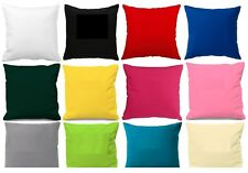 "Plain Poly Cotton Cushion Cover 10"" to 24"" Sizes ** 30 colours"