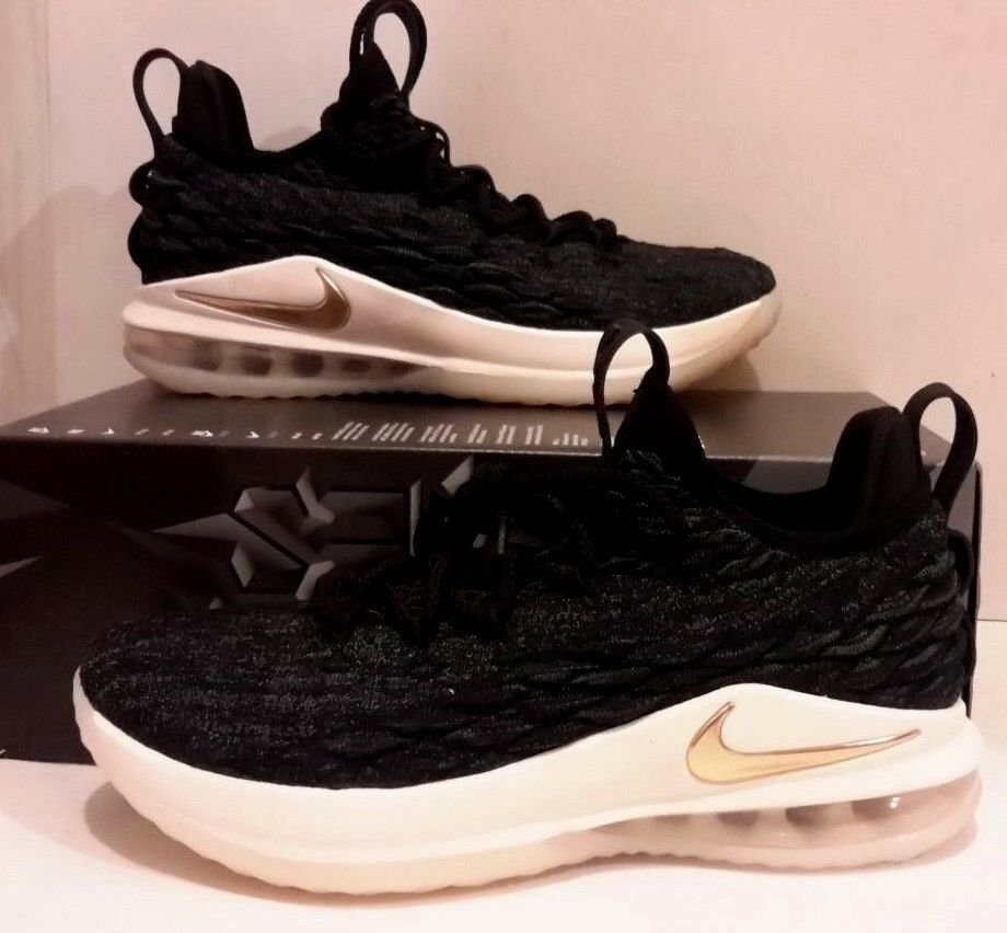 Mr/Ms Men's Nike LeBron 15 Low AO1755 Basketball Shoes Black/Metallic Gold/Phantom AO1755 Low 001 Attractive and durable Affordable Personalization trend RG61298 602975