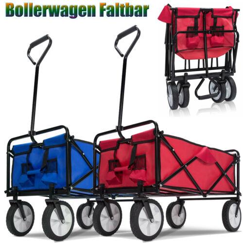 Bollerwagen Faltbar Handwagen Klappbar Transportkarre Gerätewagen Max.100kg Top