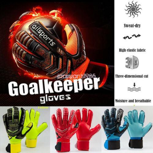 Sport Kids Adult Latex Soccer Goalie Keeper Goalkeeper Gloves Fingers Protector