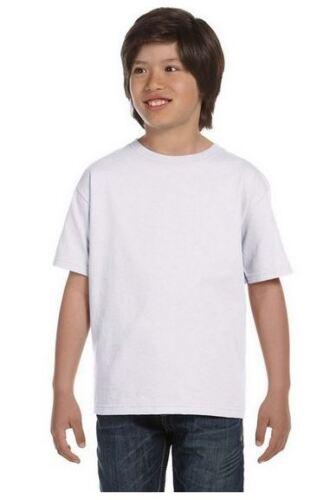 Pack of 10 Hanes Tagless Kids Boys Girls T Shirts Tees Black White 100/% Cotton