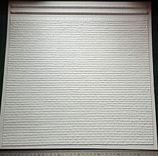 3D Flat Tile Roof plastic veneer sheets x4 G Scale trains, 1:24, Dollhouse etc