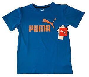Puma Brand  KIDS Boy's PUMA Logo Short Sleeve Crew Neck Sport T-Shirt