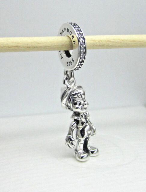 439845b06 Authentic Pandora #797489CZ Pinocchio Disney Dangle Sterling Silver Charm