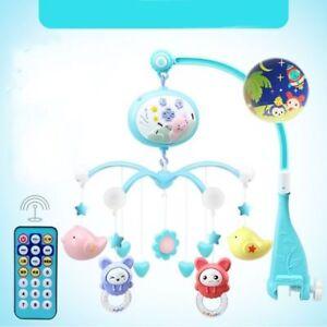 Säugling Mobile Spieluhr mit Deckenprojektor Schlafmusik Babybett Bettglocke