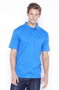 Royal-Blue-Men-039-s-Jersey-Polo-Shirt-100-Cotton