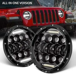 2x 7Inch 150W Total CREE LED Headlights Hi//Lo For 97-17 JEEP JK TJ Wrangler