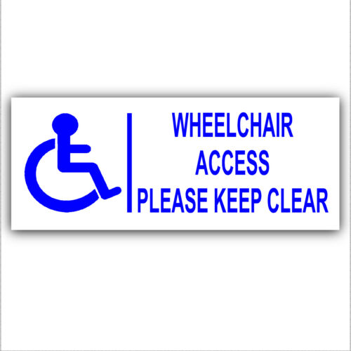 Wheelchair Access Sticker-Disability-Disabled Logo-Handicapped-200mm Sign