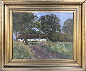 Impressionist-Road-to-the-Farm-Nordic-Landscape-Denmark-Christensen