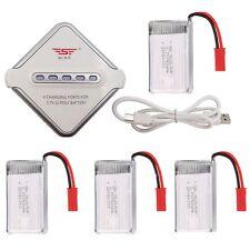 Rechargbale 4pcs Li-po Battery 3.7V 750mAH+Charger for RC Drone MJX X400 X800
