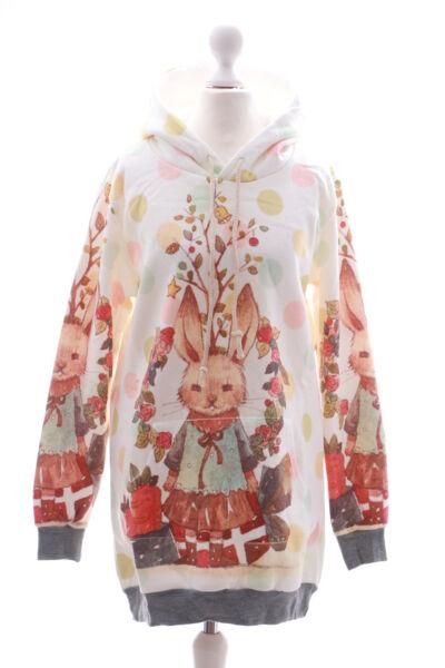 T-530 Hase Rabbit Cute Pastel Goth Lolita Pullover Kapuzen-Sweatshirt Kawaii