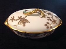 LIMOGES VERY ANTIQUE C 1888-1896 RARE HAVILAND GOLD GILT BLACKBERRY PATTERN