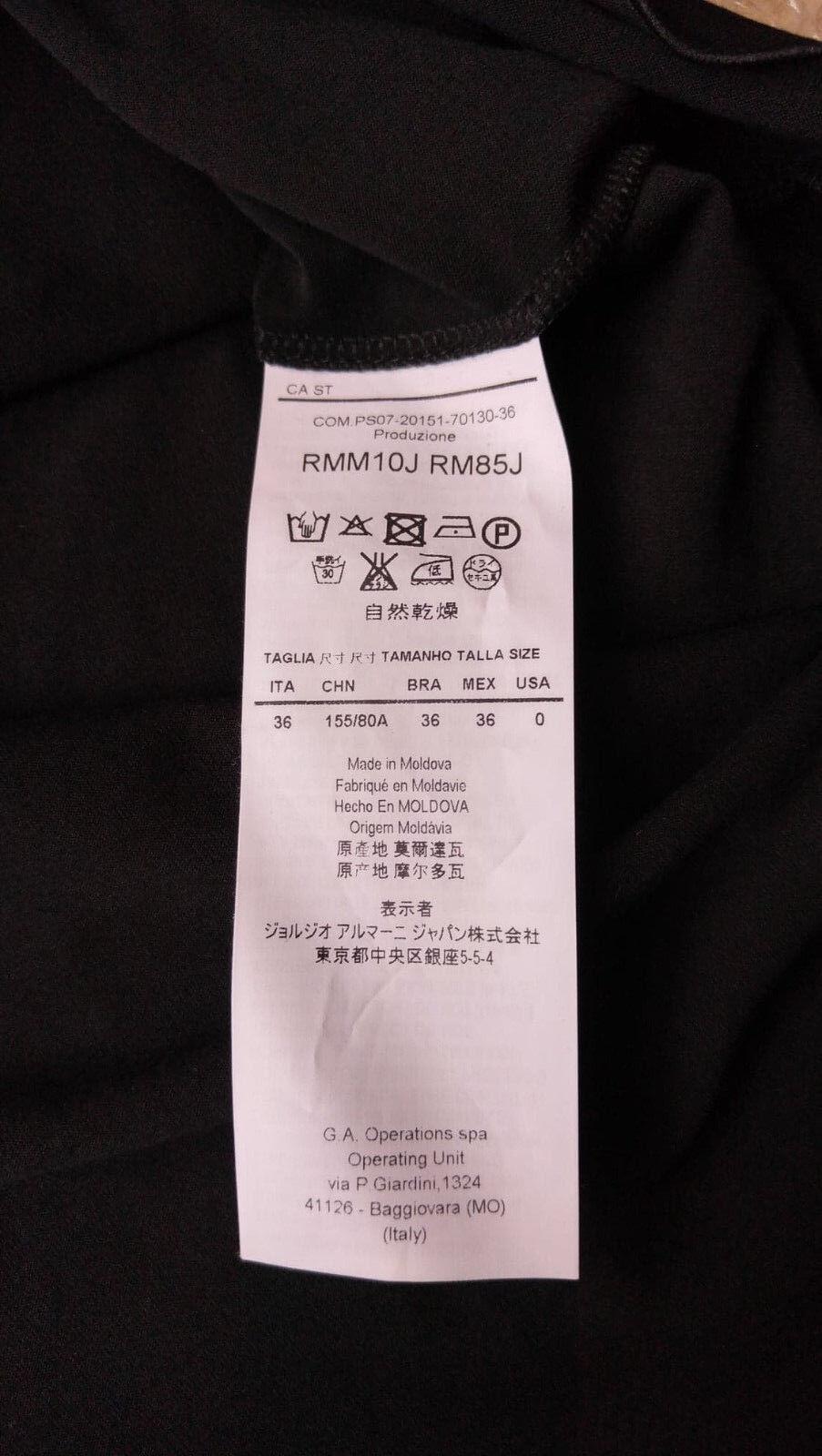 Armani Collezioni donna nero Top Taglia 36 IT  - - - Made in  af6257