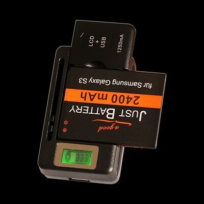 Ladegerät Charger für Handy und Kamera Akku universal HTC Samsung Huawei LG USB
