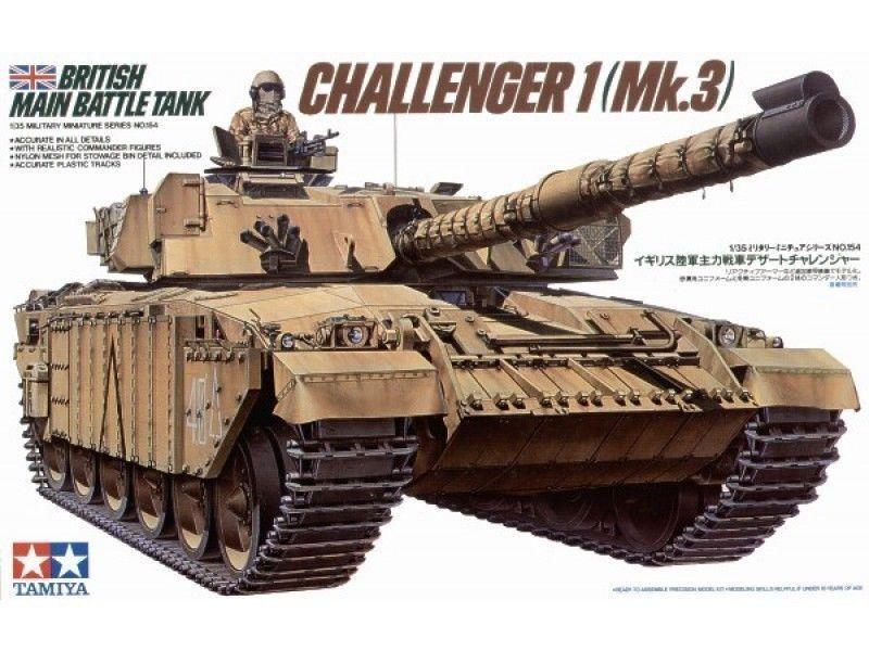 British Challenger I Mk.3 - 1 35 Military Model Kit - Tamiya 35154