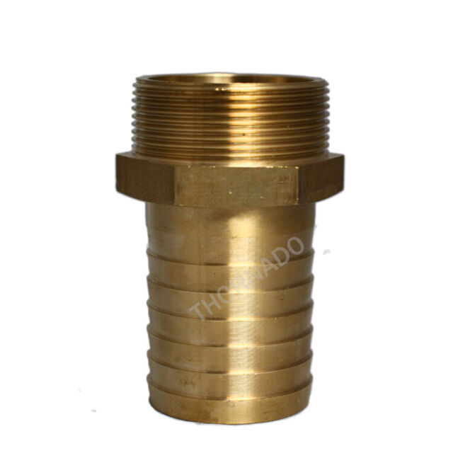 1 INCH BSP MALE to 25mm HOSE TAIL STRAIGHT SOLID BRASS