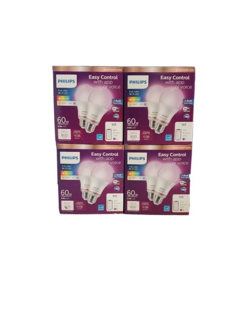 Pack Philips Smart Wi-Fi WiZ Connected Full color Light Bulb Alexa Google 2 2