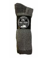 3 6 Pair Mens Womens Thick Merino Wool Winter Thermal Boot Socks Size 9-11 10-13