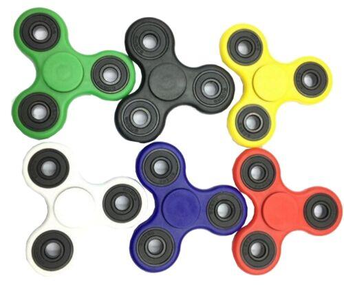 Confezione da 6 a mano Spinner Tri-Spinner Autismo ADHD Stress alleviare divertente giocattolo Tasca