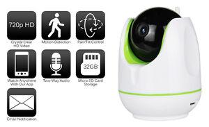 720P HD Wireless Pan / Tilt Wifi IP Network IR Home Surveillance Security Camera
