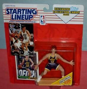 1993 JOHN STOCKTON Utah Jazz #12 NM Starting Lineup + Stadium Club bonus card