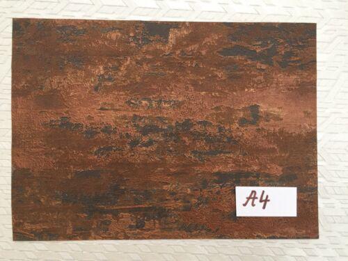 Casa De Muñecas Wallpaper 1:12 Vinilo roya parda envejecido Abstracto Moderno#R008