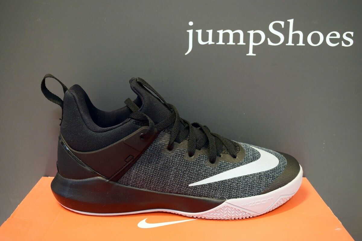 Nike Zoom Shift basketball shoes mens black grey NEW 897653-002